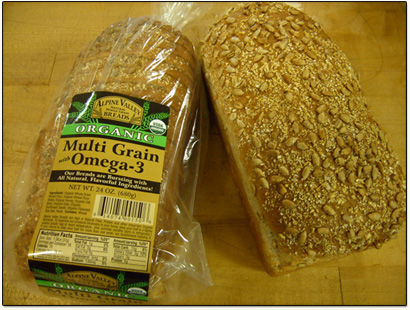 Alpine Valley Organic Bread - Excellent choice of whole grain carb