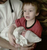 Sean and baby Kylie